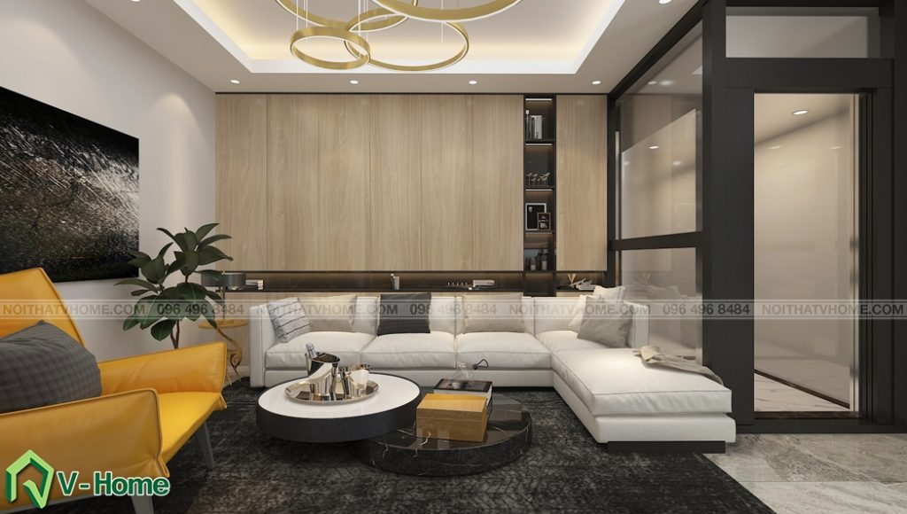 thiet-ke-noi-that-phong-khach-nha-lo-a-son-1-1024x580 Thiết kế nội thất nhà lô phố tại Đan Phượng - A. Sơn