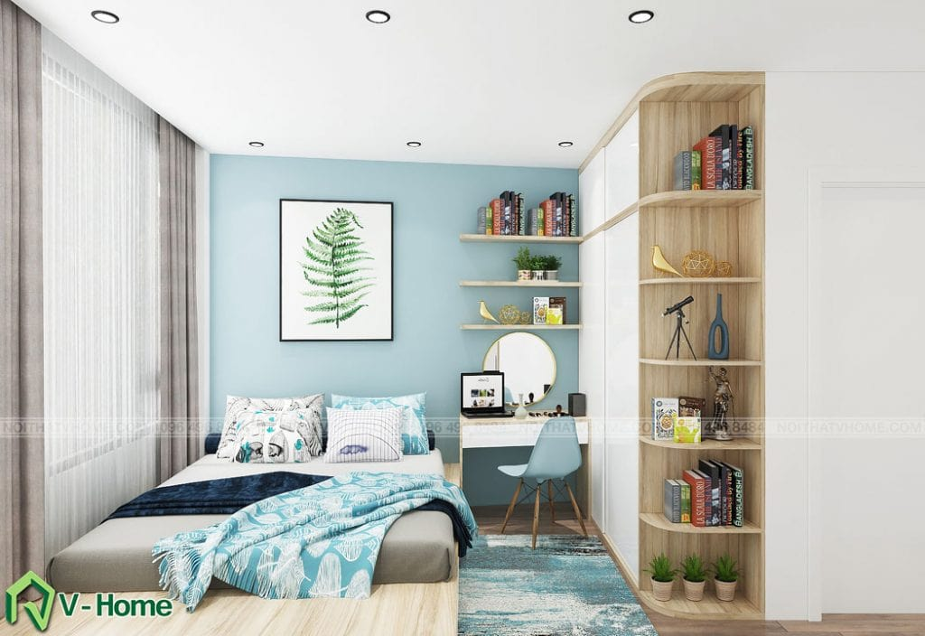 thiet-ke-noi-that-phong-ngu-tang-2-a-duc-ngoc-ha-2-1024x704 Thiết kế nội thất nhà lô tại Ngọc Hà - A. Đức