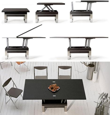 transforming-small-to-large-table TOP 10+ mẫu bàn trà thông minh ai cũng muốn được sở hữu