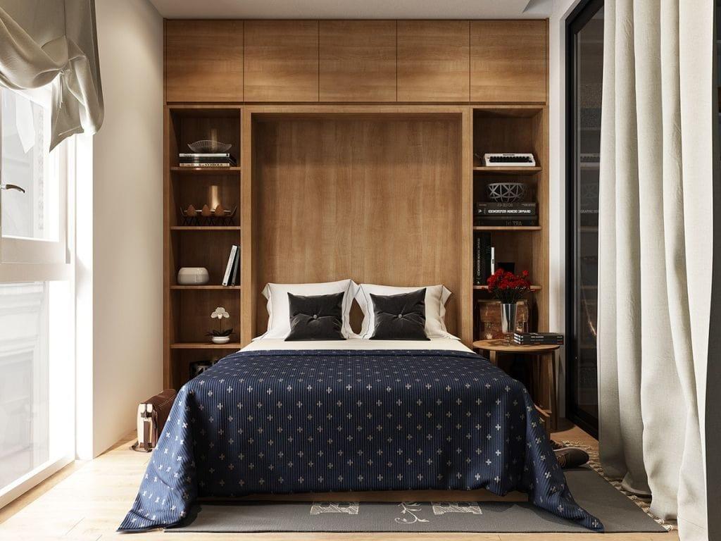 amazing-headboard-with-storage-1024x768 Tuyệt chiêu thiết kế nội thất phòng ngủ nhỏ đẹp ngây ngất
