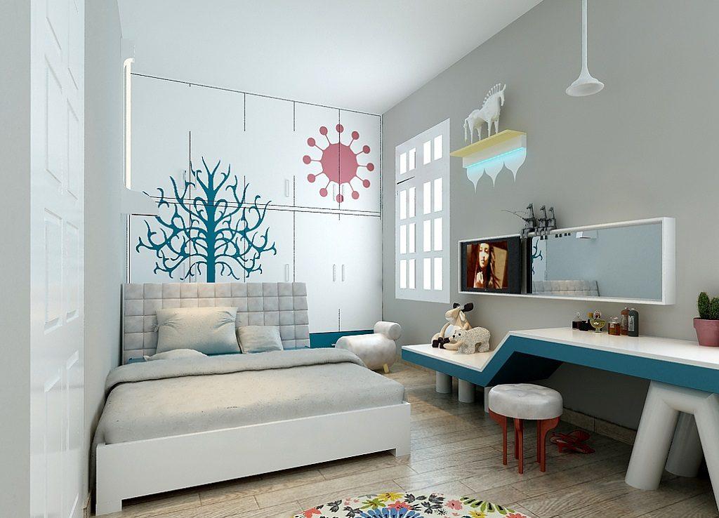 bo-tri-phong-ngu-cho-be-1-1024x738 Tuyệt chiêu thiết kế nội thất phòng ngủ nhỏ đẹp ngây ngất