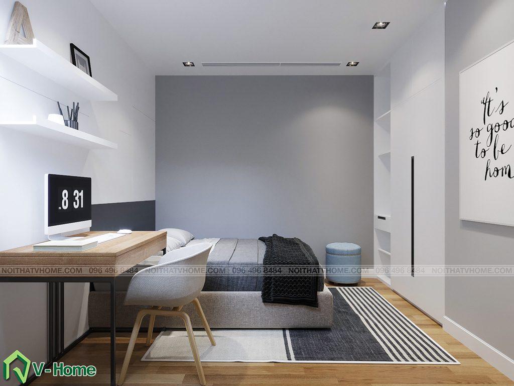 phong-ngu-s2-2-1024x768 Thiết kế nội thất căn hộ FLC Twin Towers - Ms. Hương