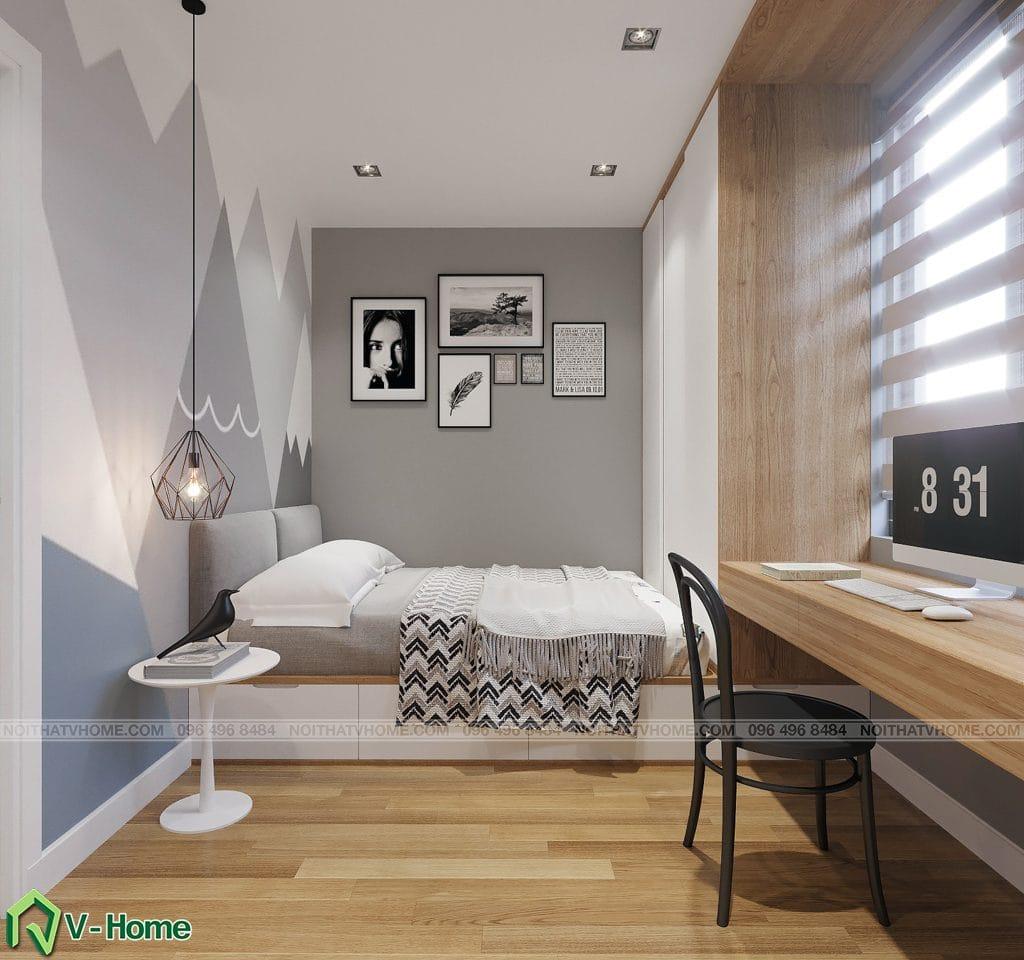phong-ngu-s3-1-1024x960 Thiết kế nội thất căn hộ FLC Twin Towers - Ms. Hương