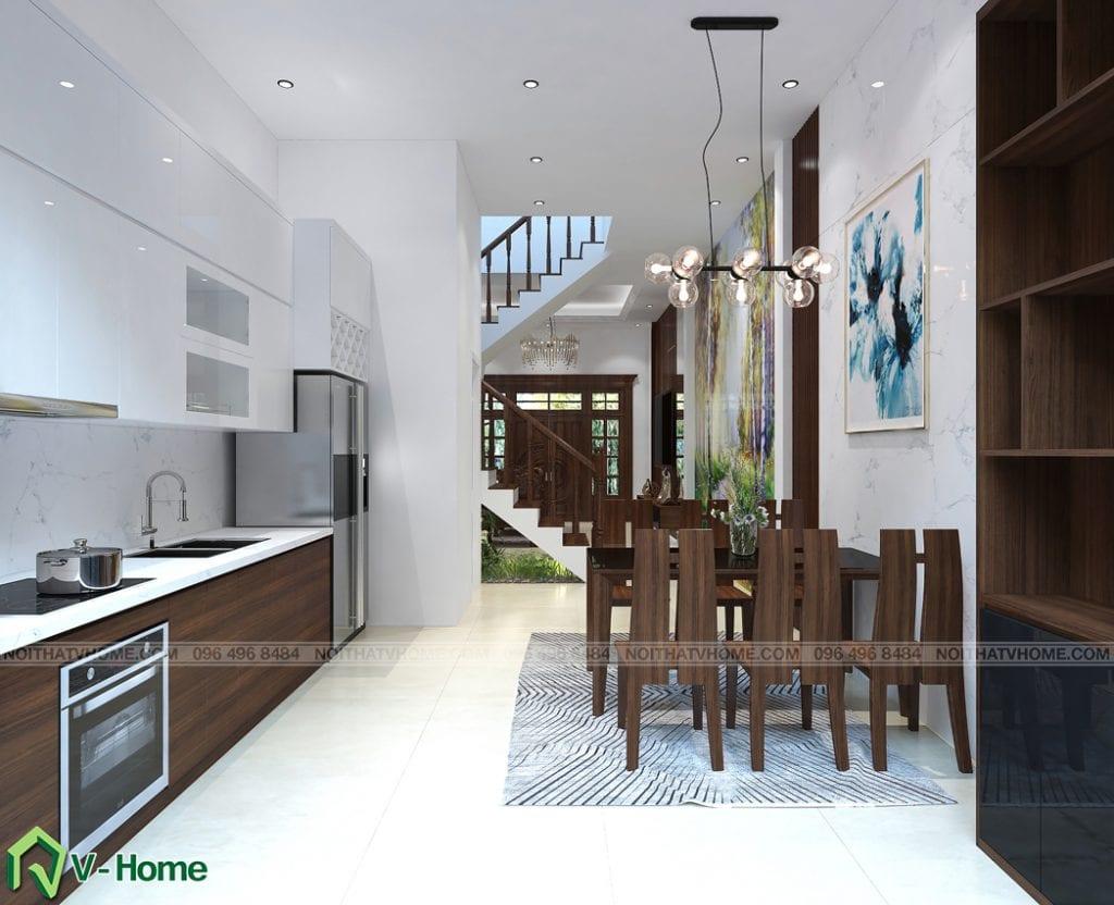 thiet-ke-noi-that-phong-bep-an-kim-anh-1-1024x832 Thiết kế nội thất nhà lô phố tại Cầu Diễn - Ms. Kim Anh