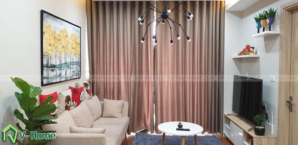 Phong-khach-can-ho-mon-city-1-1024x498 Thi công nội thất căn hộ chung cư Mon City - Chị Vân
