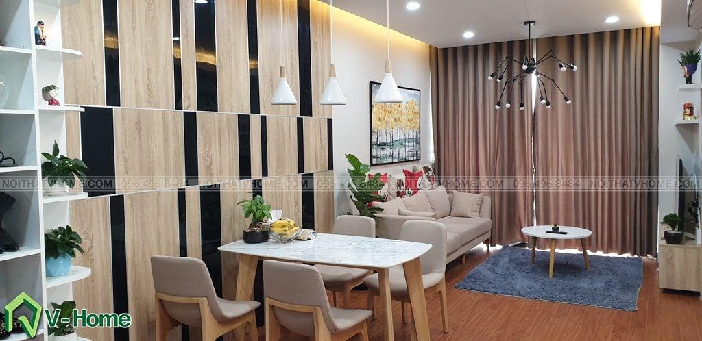 Phong-khach-can-ho-mon-city-4-1024x498 Thi công nội thất căn hộ chung cư Mon City - Chị Vân