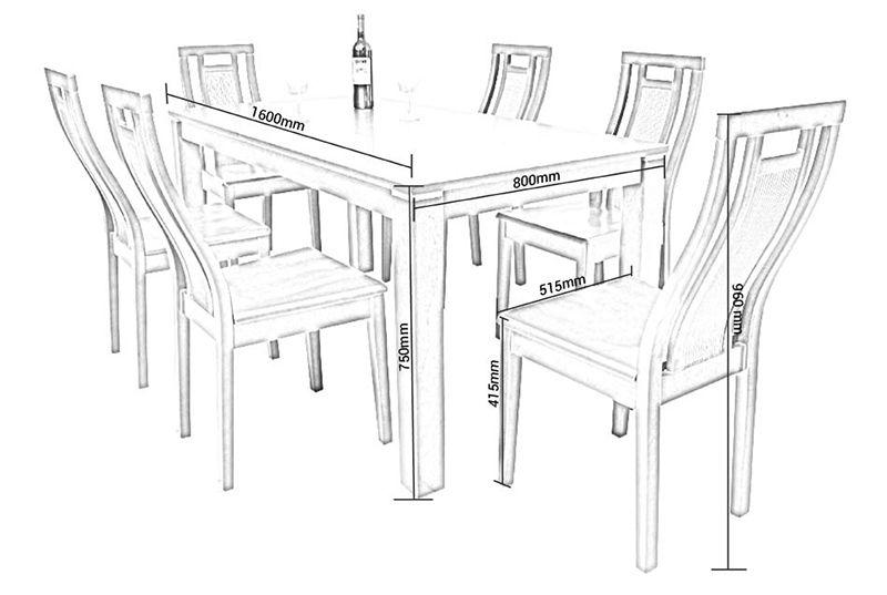kích-thước-bàn-ăn-6-ghế Có thể bạn chưa biết: Kích thước tiêu chuẩn của đồ nội thất