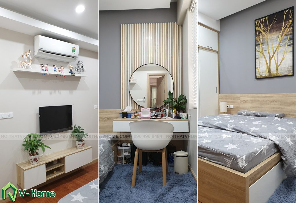 khong-gian-phong-ngu-master-2-1024x700 Thi công nội thất căn hộ chung cư Mon City - Chị Vân