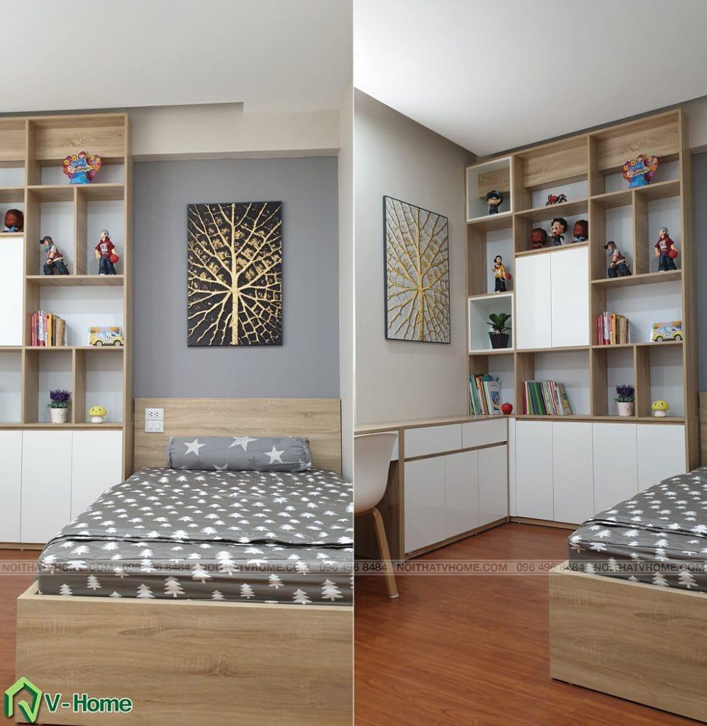 phong-ngu-tre-em-3-997x1024 Thi công nội thất căn hộ chung cư Mon City - Chị Vân