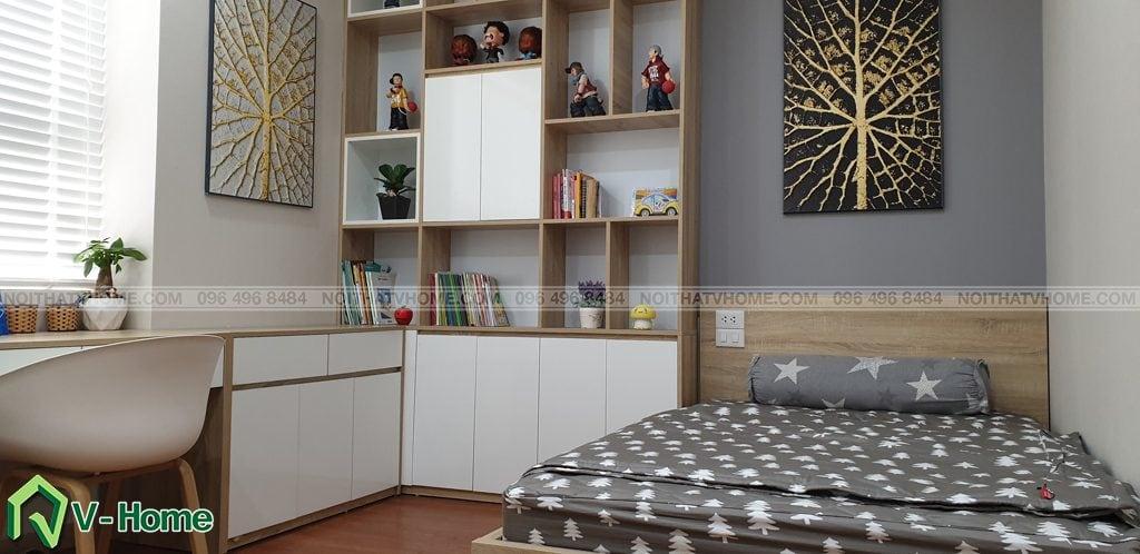 phong-ngu-tre-em-6-1024x498 Thi công nội thất căn hộ chung cư Mon City - Chị Vân