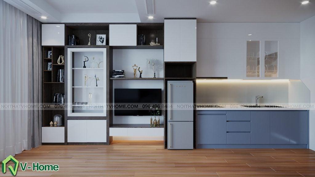 thiet-ke-chung-cu-Green-Bay-a-Linh-7-1024x576 Thiết kế nội thất căn hộ chung cư Green Bay, Mễ Trì - Mr.Mạnh