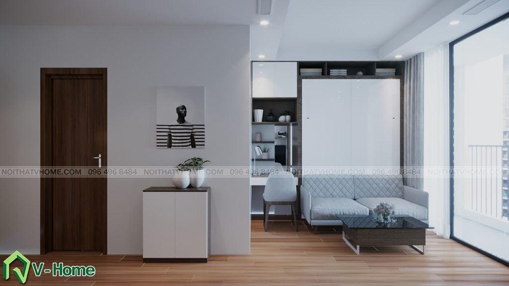thiet-ke-chung-cu-Green-Bay-a-Linh-9-1024x576 Thiết kế nội thất căn hộ chung cư Green Bay, Mễ Trì - Mr.Mạnh